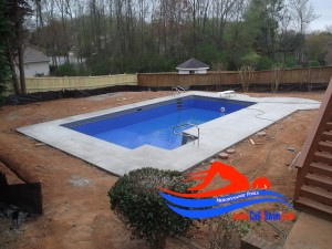 after swimming pool installation