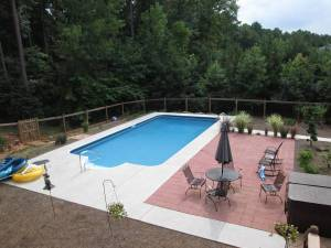 Woodstock Georgia pool install after