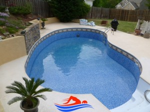 Atlanta GA swimming pool installation finished